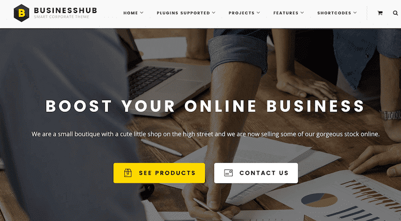 theme wordpress creer site ecommerce businesshub