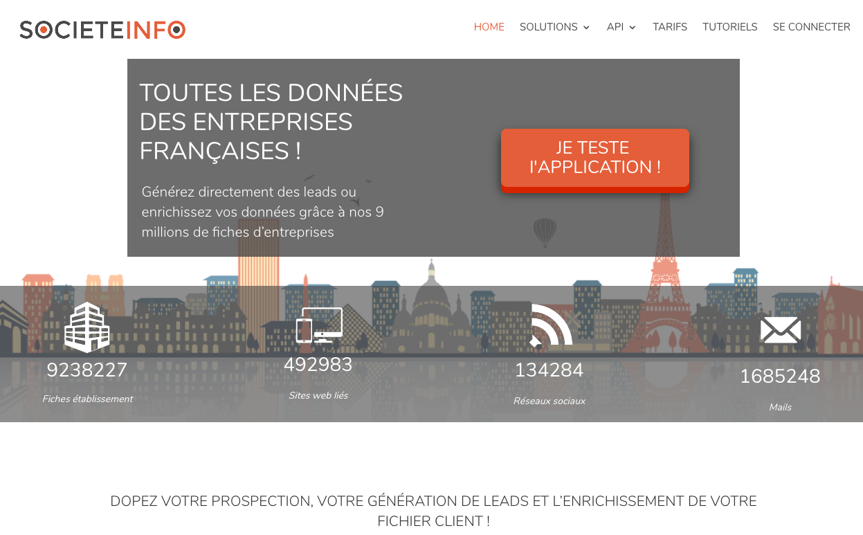 societeinfo page accueil