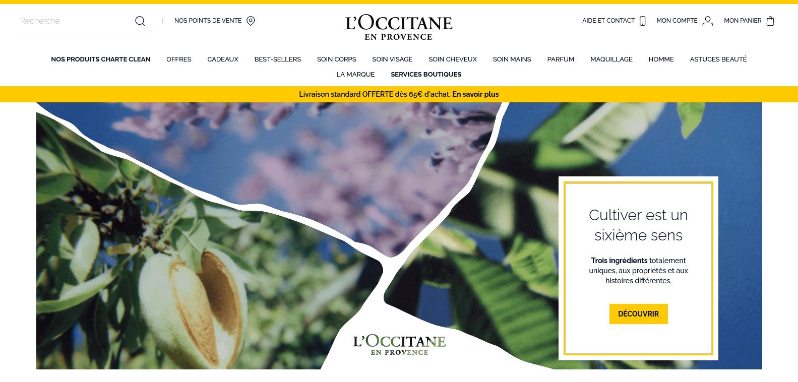 l'occitane en provence exemple design ecommerce beauté