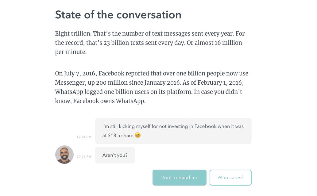 chatbot interfaces conversationnelles typeform