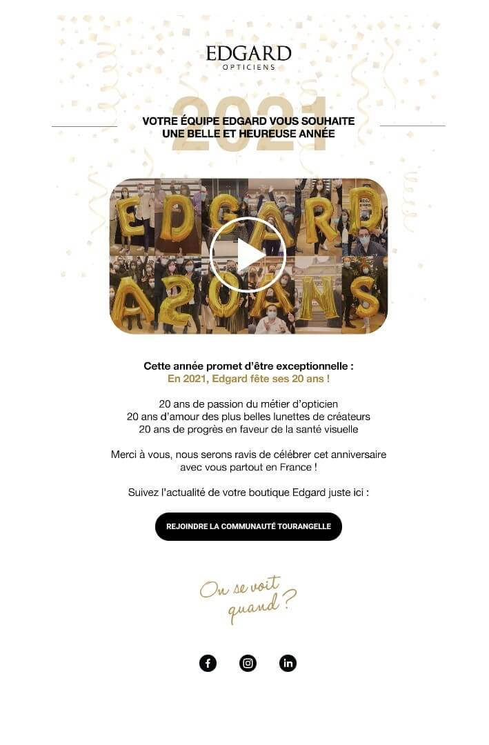 exemple campagne emailing Edgard